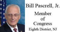 Bill Pascrell, Jr., Member of Congress, Eighth District, NJ
